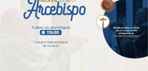 Missa com Dom Washington Cruz, no Domingo, às 11h30